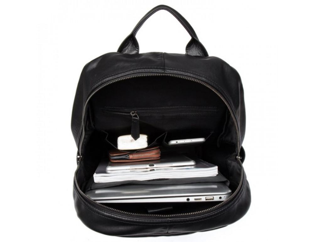 Кожаный городской рюкзак Tiding Bag NM17-1281-3A чёрный - Фото № 3