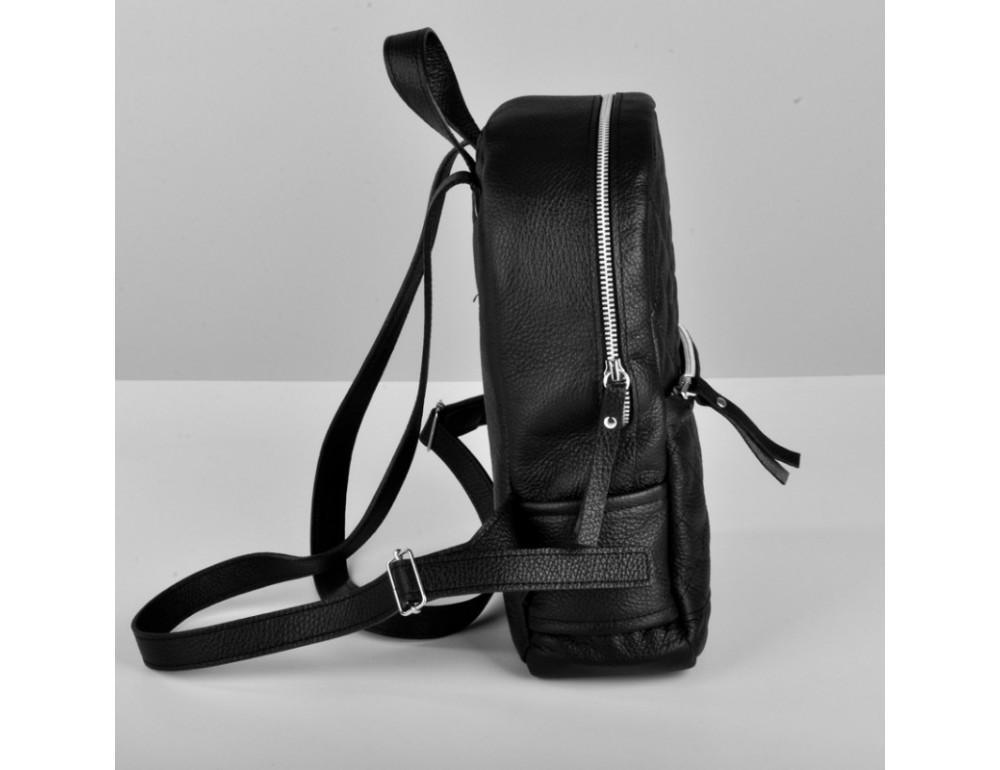 Женский кожаный рюкзак Jizuz Caspia Nude CA312310B чёрный - Фото № 3