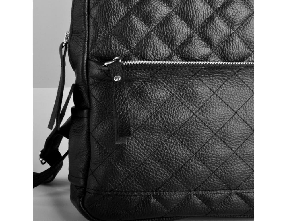 Женский кожаный рюкзак Jizuz Caspia Nude CA312310B чёрный - Фото № 6