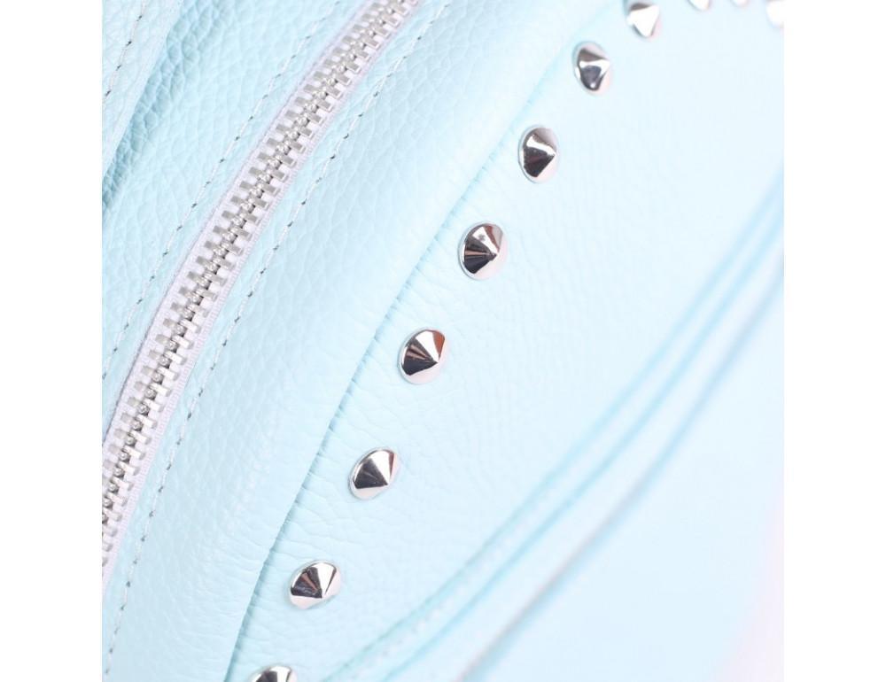 Женский кожаный рюкзак Jizuz fiji Nude FJ25219A голубой - Фото № 2