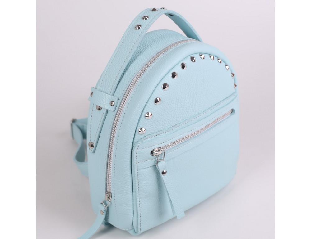 Женский кожаный рюкзак Jizuz fiji Nude FJ25219A голубой - Фото № 3