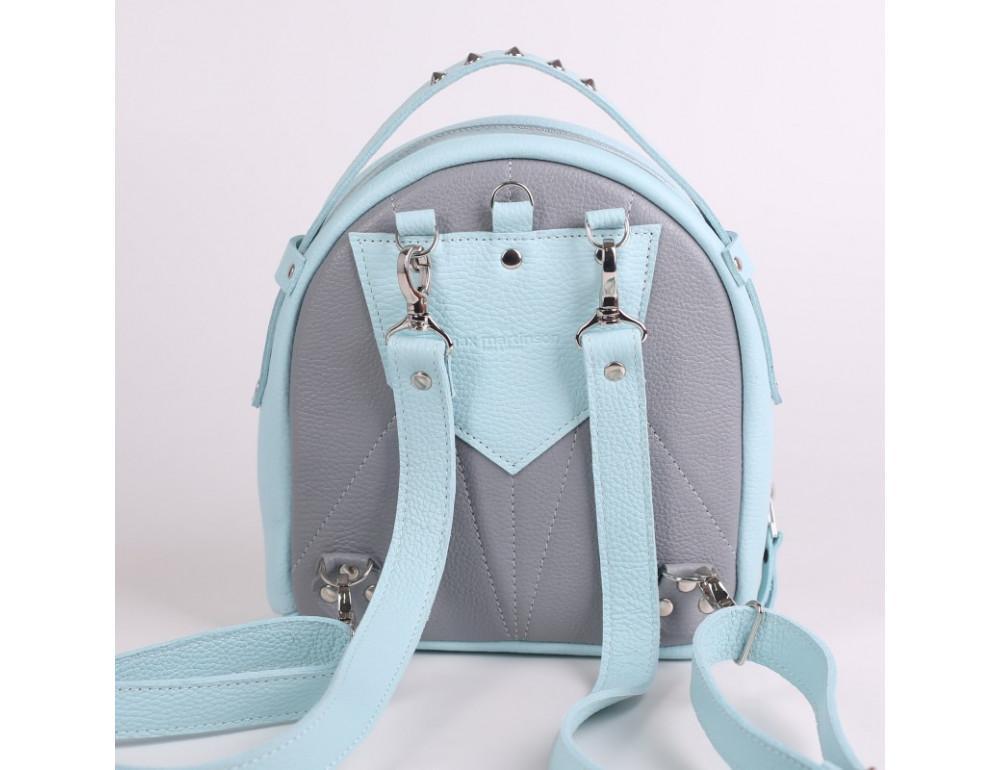 Женский кожаный рюкзак Jizuz fiji Nude FJ25219A голубой - Фото № 4