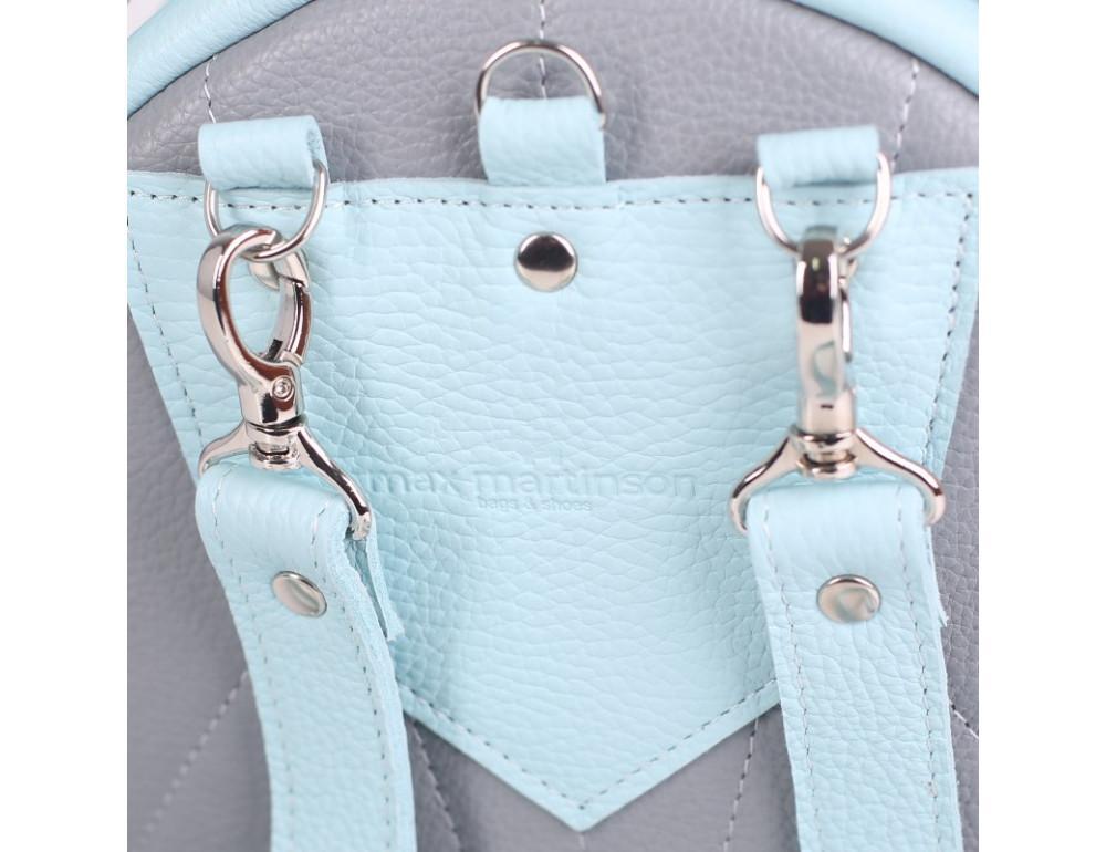 Женский кожаный рюкзак Jizuz fiji Nude FJ25219A голубой - Фото № 5