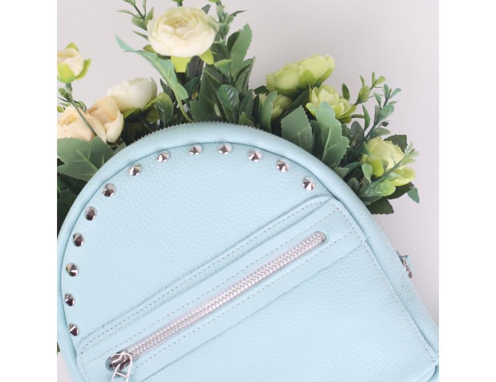 Женский кожаный рюкзак Jizuz fiji Nude FJ25219A голубой - Фото № 6