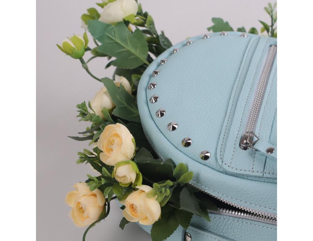 Женский кожаный рюкзак Jizuz fiji Nude FJ25219A голубой - Фото № 7