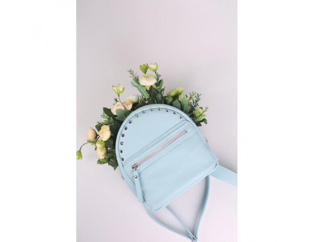 Женский кожаный рюкзак Jizuz fiji Nude FJ25219A голубой - Фото № 8