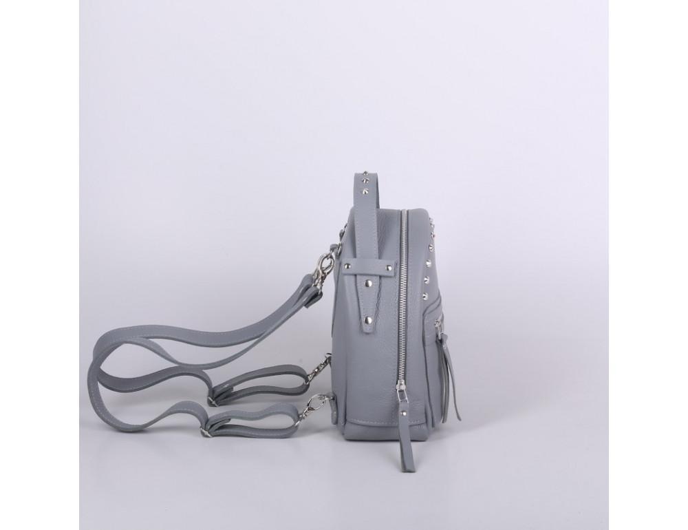 Женский кожаный рюкзак Jizuz fiji Nude FJ2521GR серый - Фото № 3
