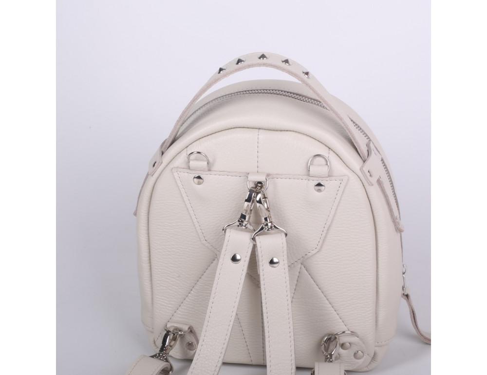 Женский кожаный рюкзак Jizuz fiji Nude FJ25219M Молочный - Фото № 5