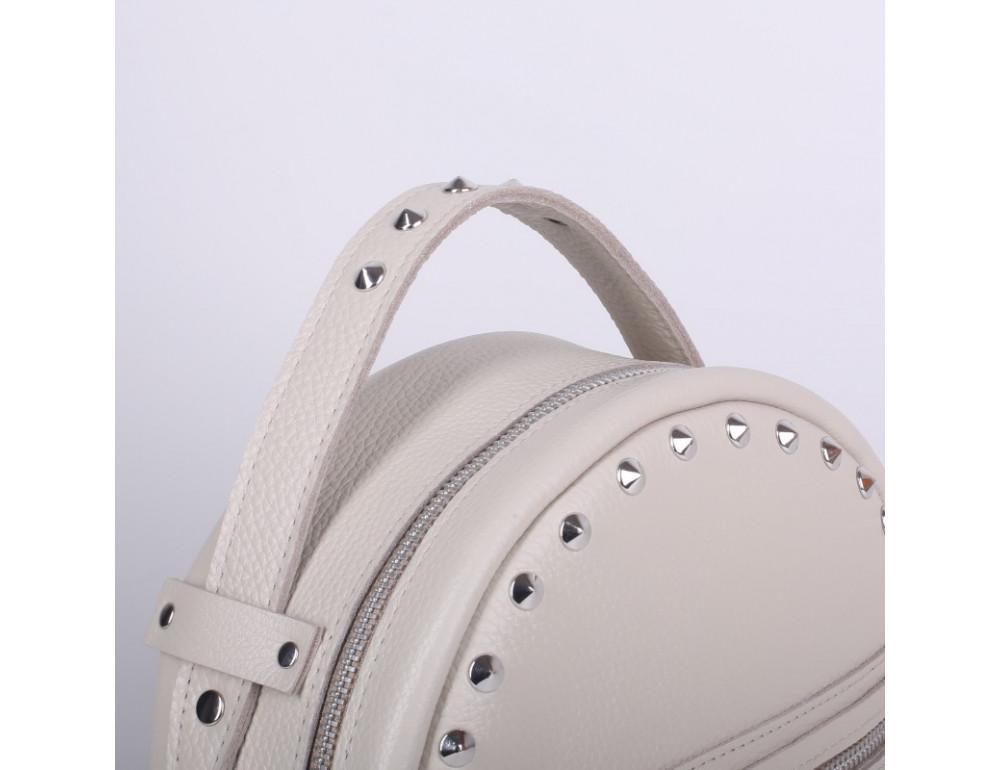 Женский кожаный рюкзак Jizuz fiji Nude FJ25219M Молочный - Фото № 4