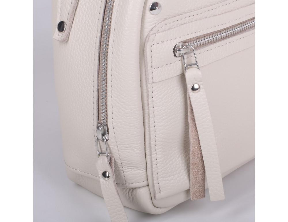 Женский кожаный рюкзак Jizuz fiji Nude FJ25219M Молочный - Фото № 3