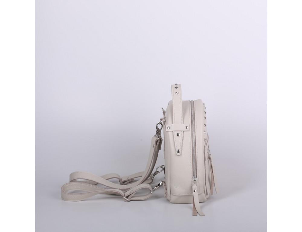 Женский кожаный рюкзак Jizuz fiji Nude FJ25219M Молочный - Фото № 2