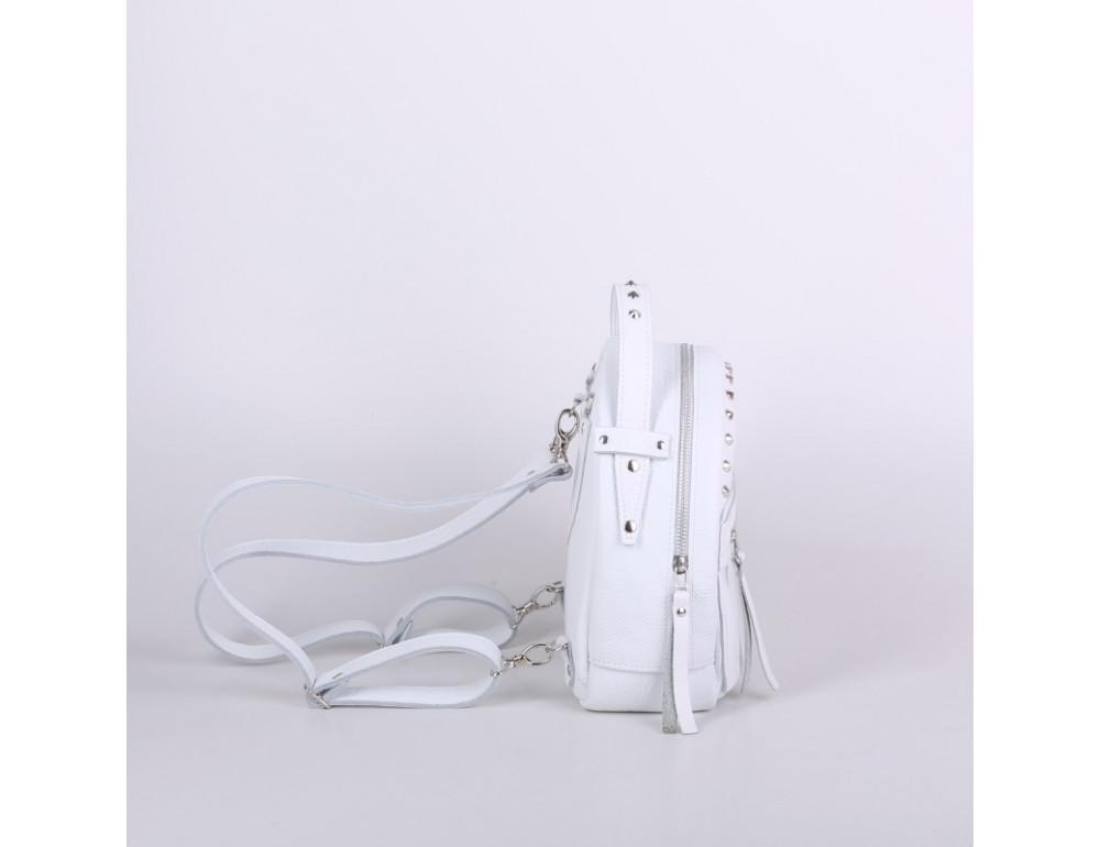 Женский кожаный рюкзак Jizuz fiji Nude FJ25219WT белый - Фото № 3