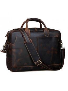 Винтажная сумка из лошадиной кожи TIDING BAG T1019 коричневая