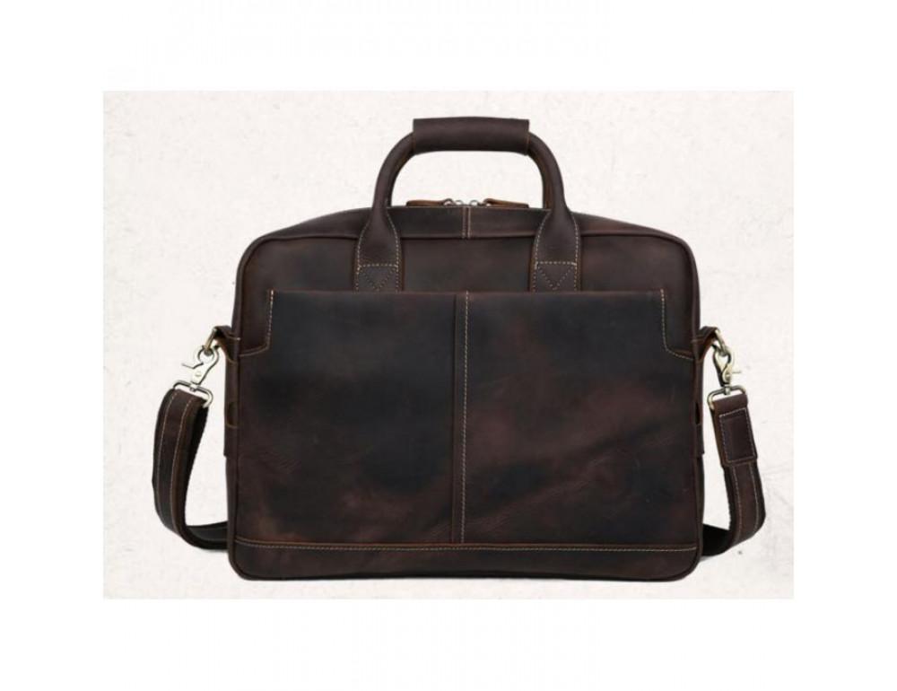 Вінтажна сумка з кінської шкіри TIDING BAG T1019 коричнева - Фотографія № 2