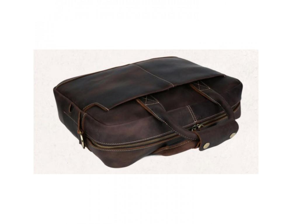 Вінтажна сумка з кінської шкіри TIDING BAG T1019 коричнева - Фотографія № 4