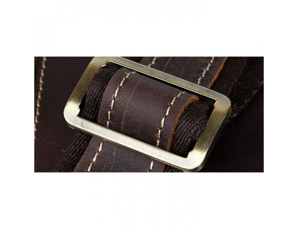 Вінтажна сумка з кінської шкіри TIDING BAG T1019 коричнева - Фотографія № 6