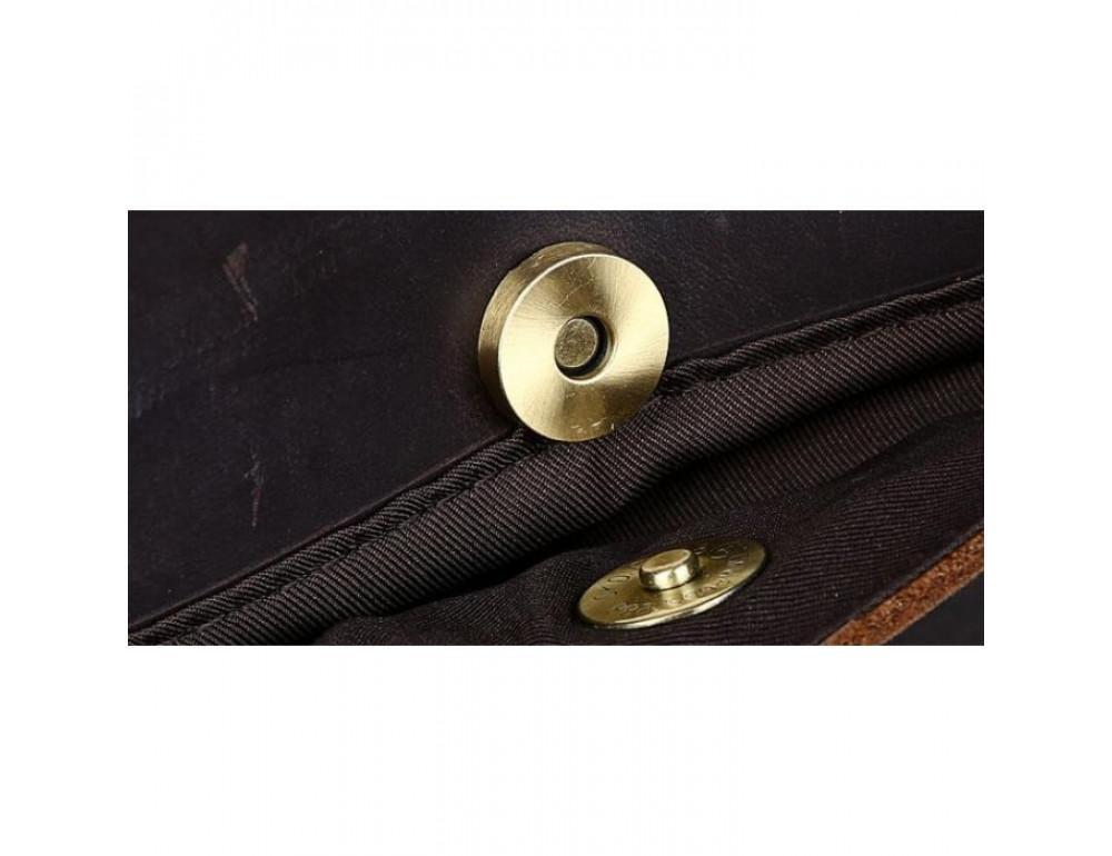 Вінтажна сумка з кінської шкіри TIDING BAG T1019 коричнева - Фотографія № 13