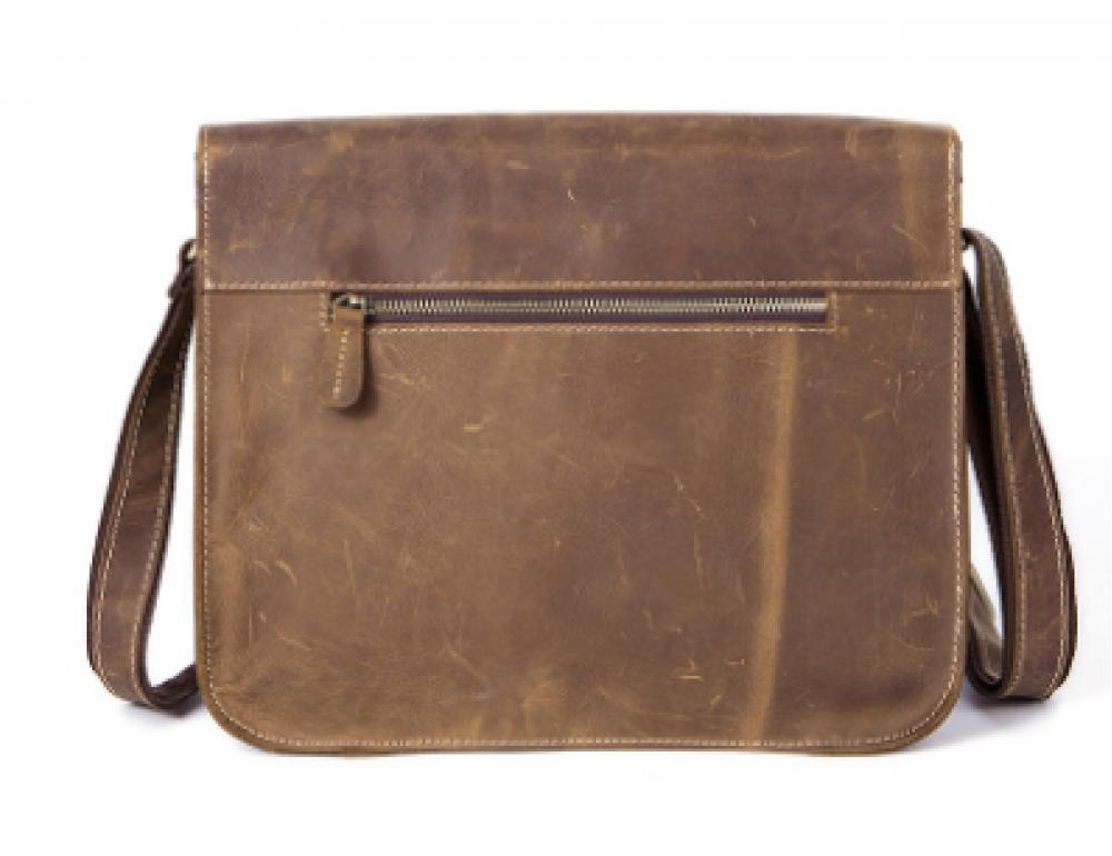 Винтажная кожаная сумка через плечо под А4 Bexhill Bx1050 коричневая - Фото № 5