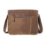 Винтажная кожаная сумка через плечо под А4 Bexhill Bx1050 коричневая - Фото № 104