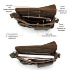 Винтажная кожаная сумка через плечо под А4 Bexhill Bx1050 коричневая - Фото № 103