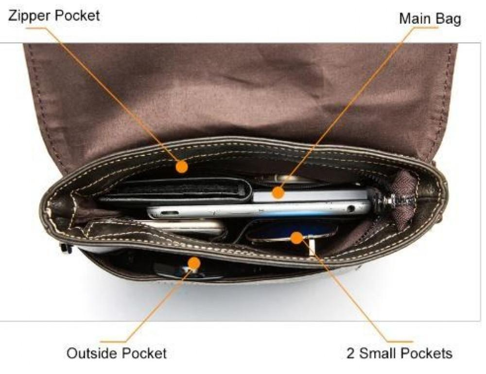Чорна чоловіча сумка-месенджер Bexhill Bx8005A - Фотографія № 6