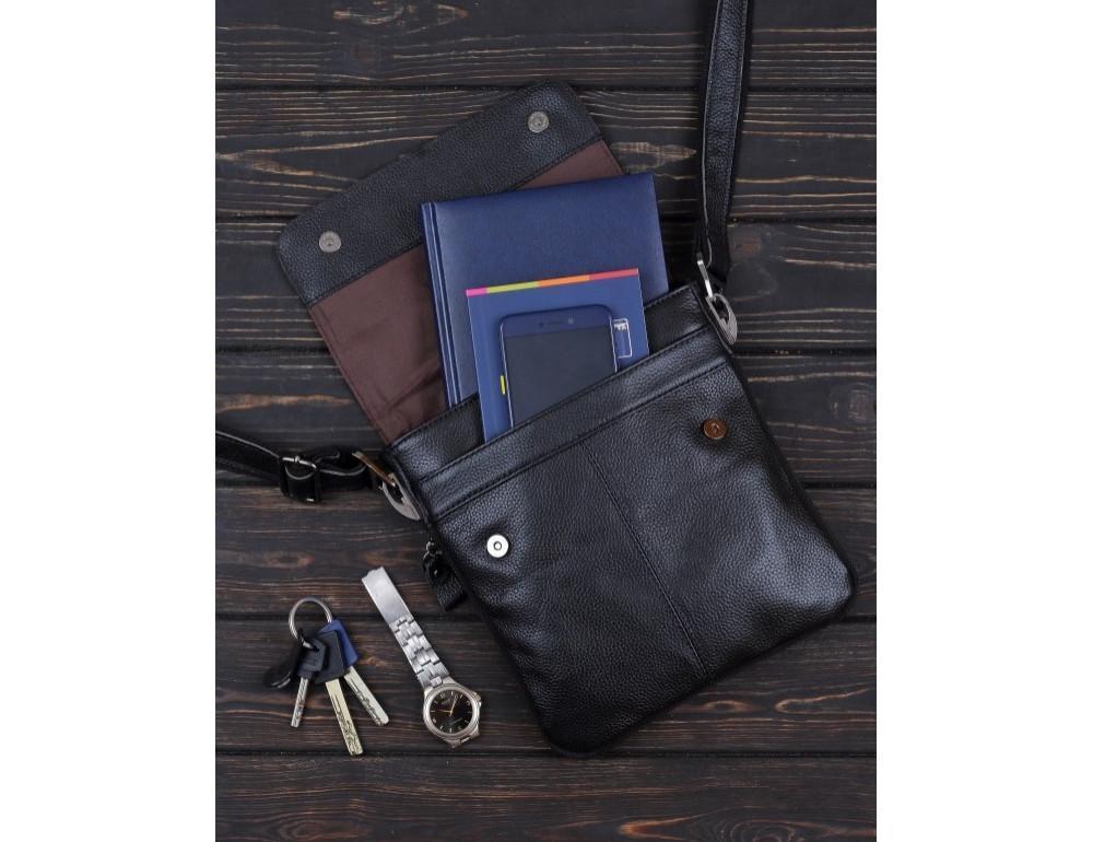 Чорна чоловіча сумка-месенджер Bexhill Bx8005A - Фотографія № 8
