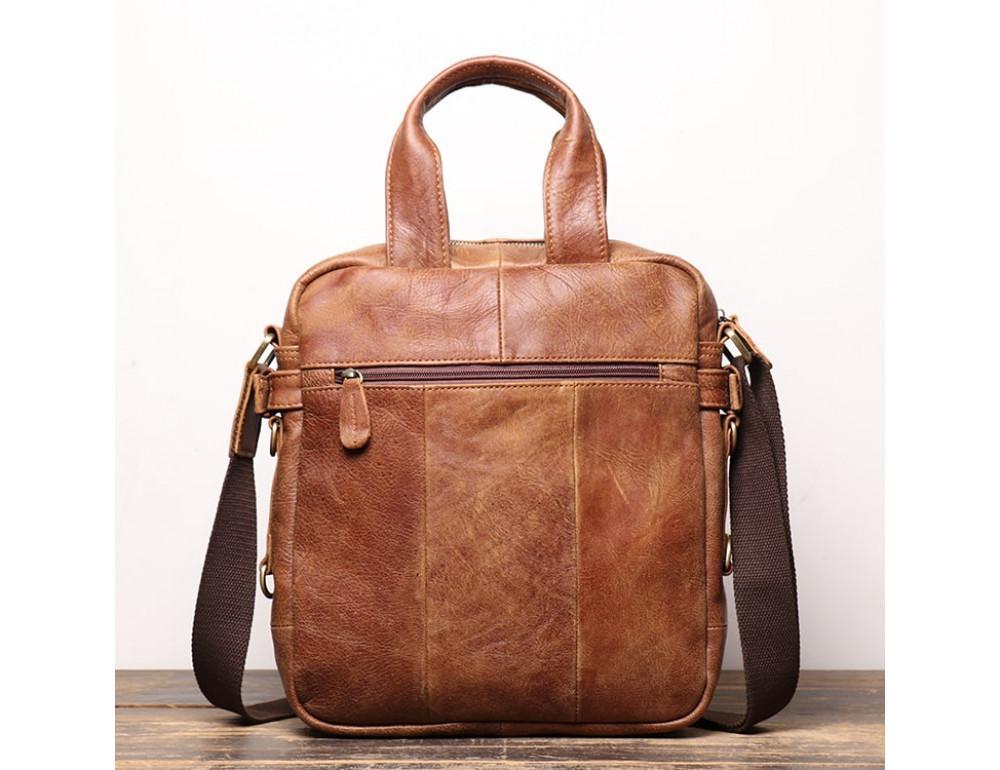 Коричневая кожаная сумка под старину Vintage BX8178C - Фото № 2