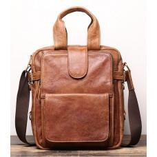 Коричнева шкіряна сумка під старовину Vintage BX8178C