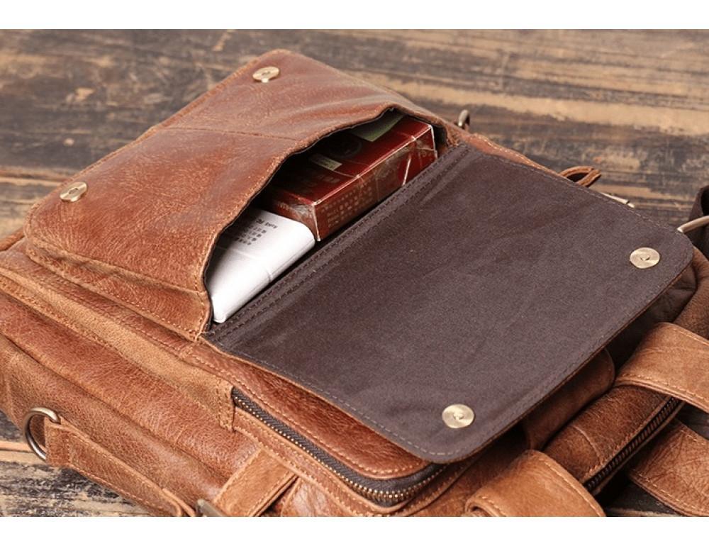 Коричневая кожаная сумка под старину Vintage BX8178C - Фото № 5