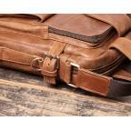 Коричневая кожаная сумка под старину Vintage BX8178C - Фото № 106