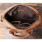 Коричневая кожаная сумка под старину Vintage BX8178C - Фото № 107