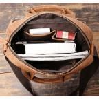 Коричневая кожаная сумка под старину Vintage BX8178C - Фото № 108