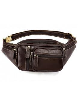 Темно-коричнева шкіряна сумка на пояс Bexhill Bx8336B