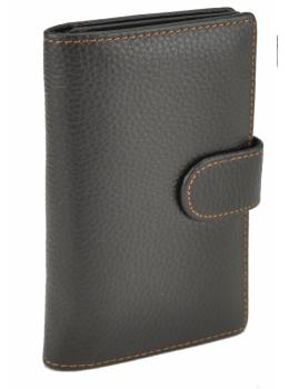 Коричневый кожаный портмоне под карточки Bexhill Bx8593C