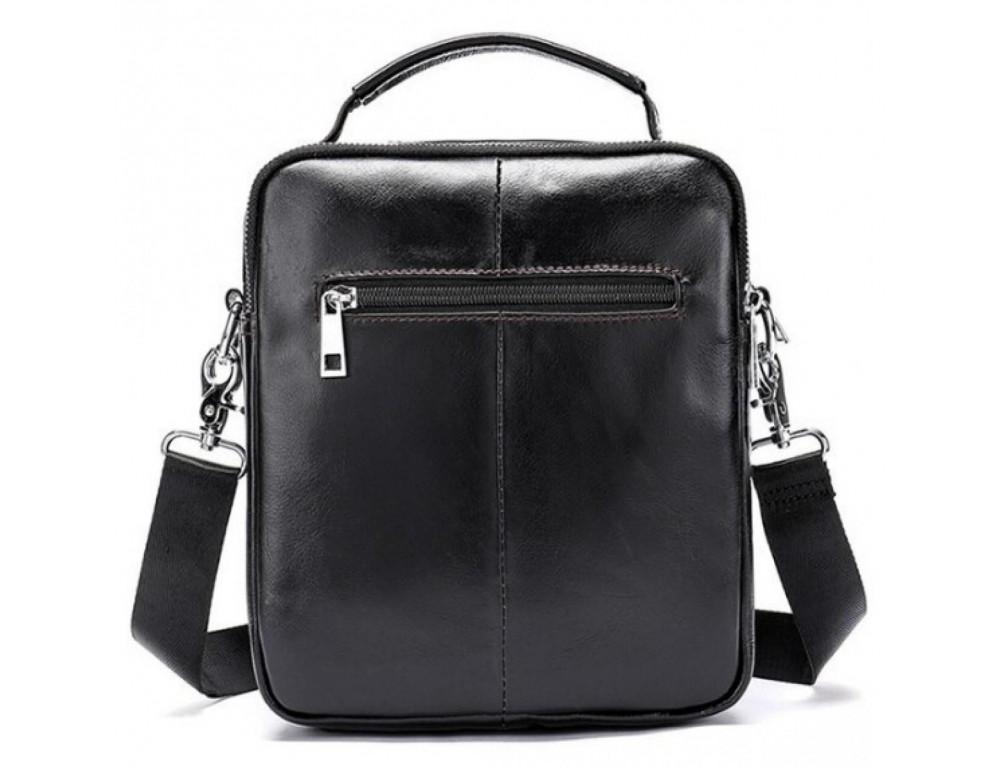 Маленькая мужская сумка через плечо тёмно-коричневого цвета Bexhill Bx9024-1 - Фото № 3