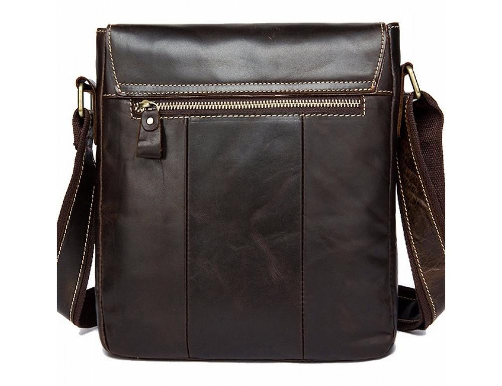 Тёмно-коричневая кожаная сумка через плечо BEXHILL BX9040 - Фото № 2