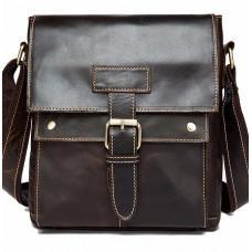 Тёмно-коричневая кожаная сумка через плечо BEXHILL BX9040