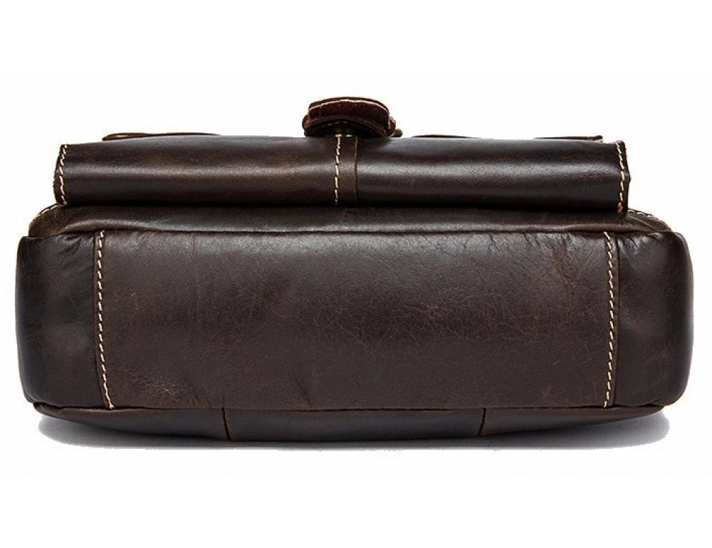Тёмно-коричневая кожаная сумка через плечо BEXHILL BX9040 - Фото № 4