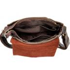 Тёмно-коричневая кожаная сумка через плечо BEXHILL BX9040 - Фото № 104