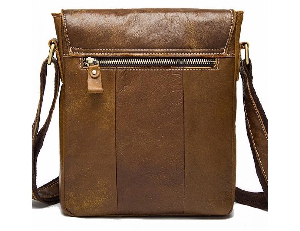 Светло-коричневая кожаная сумка через плечо Bexhill BX9040C - Фото № 2
