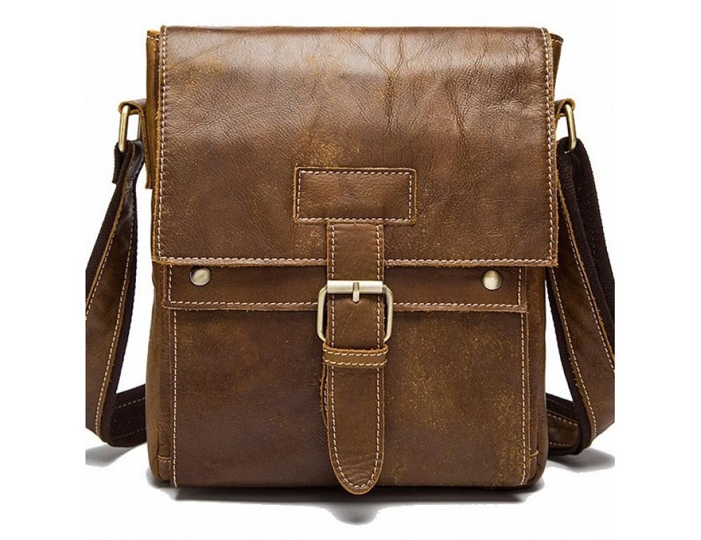 Светло-коричневая кожаная сумка через плечо Bexhill BX9040C - Фото № 1