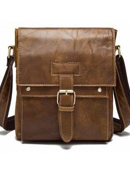 Светло-коричневая кожаная сумка через плечо Bexhill BX9040C