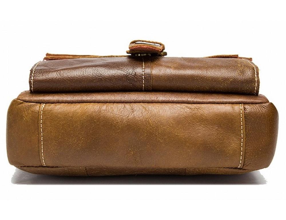 Светло-коричневая кожаная сумка через плечо Bexhill BX9040C - Фото № 4