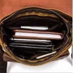 Светло-коричневая кожаная сумка через плечо Bexhill BX9040C - Фото № 107
