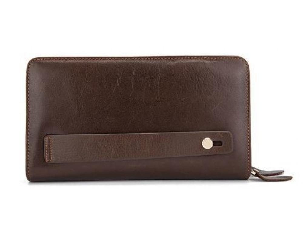 Мужской кожаный клатч Bexhill Bx9069-1C тёмно-коричневый - Фото № 5