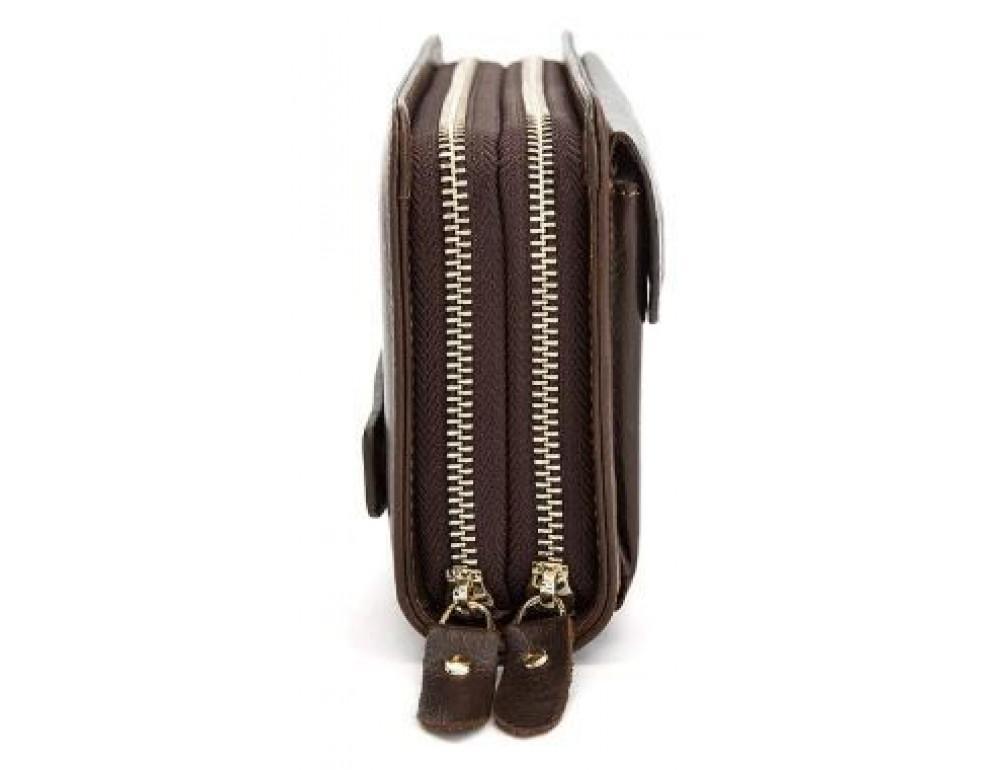 Мужской кожаный клатч Bexhill Bx9069-1C тёмно-коричневый - Фото № 6