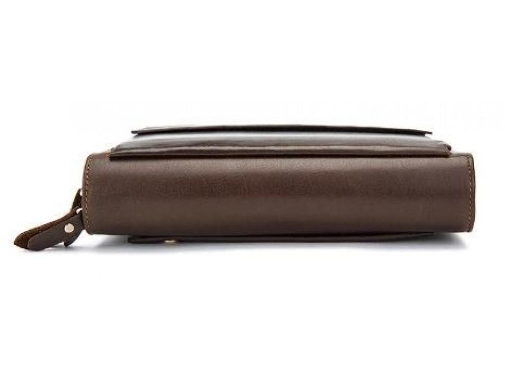 Мужской кожаный клатч Bexhill Bx9069-1C тёмно-коричневый - Фото № 7