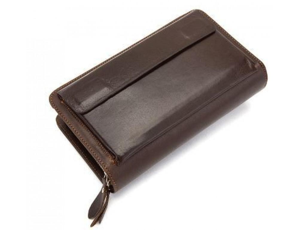 Мужской кожаный клатч Bexhill Bx9069-1C тёмно-коричневый - Фото № 8