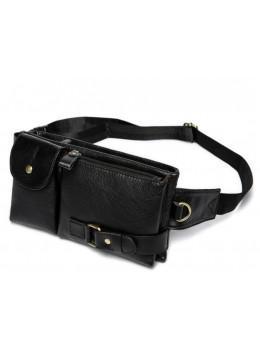 Чорна шкіряна сумка на пояс Bexhill Bx9080A