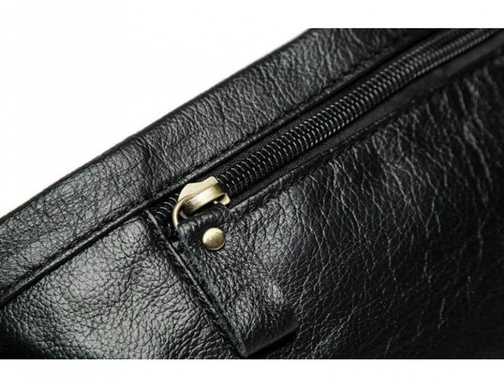 Чёрная кожаная сумка на пояс Bexhill Bx9080A - Фото № 6